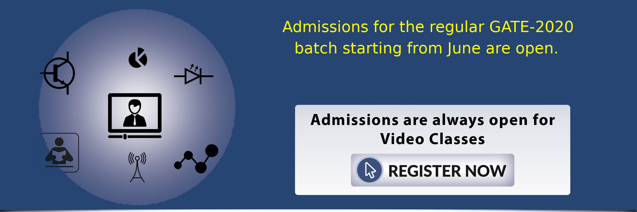 Admissions open for regular batch for GATE-2020