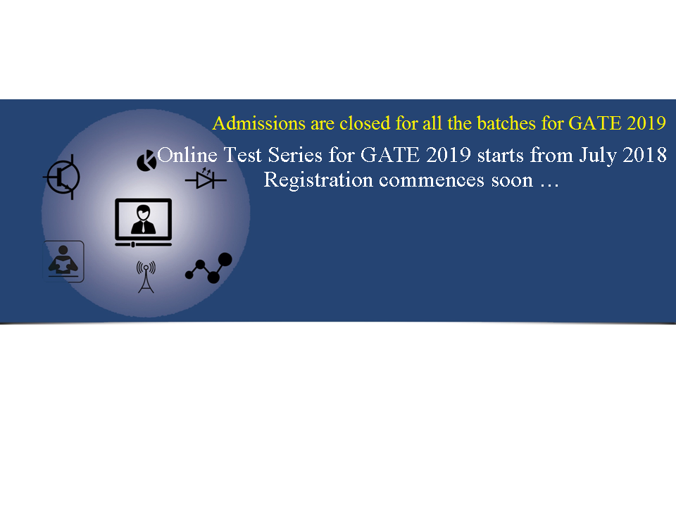 Admissions closed for new weekend batch for GATE-2019