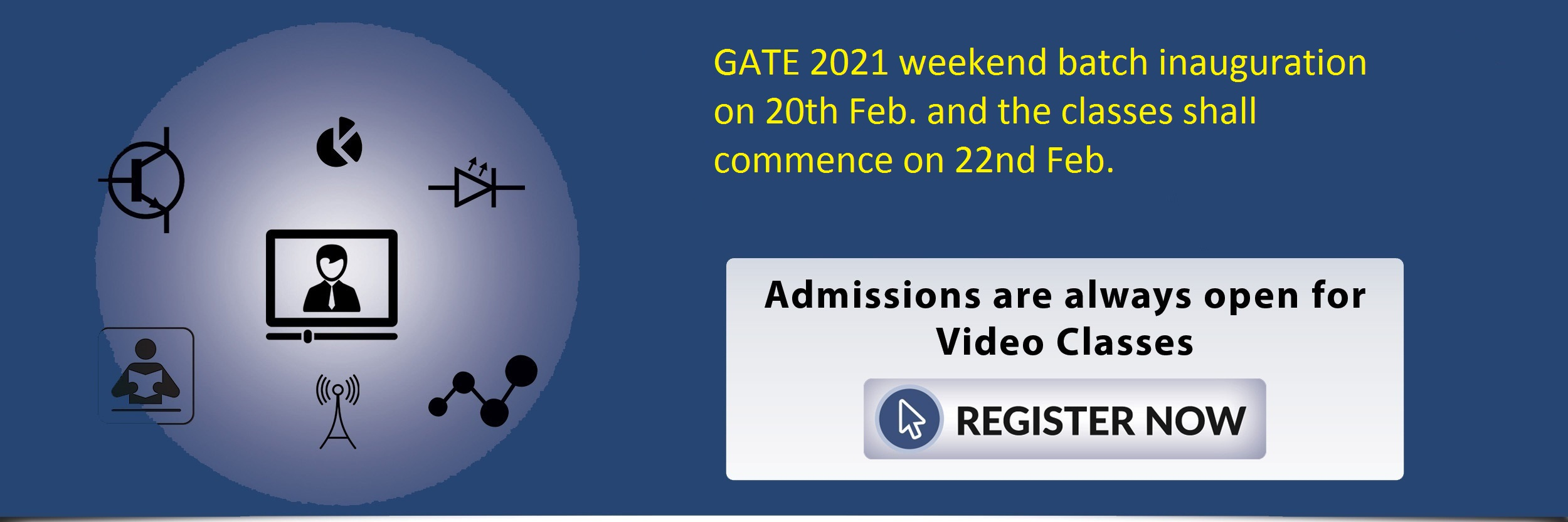 Admissions open for regular batch for GATE-2021